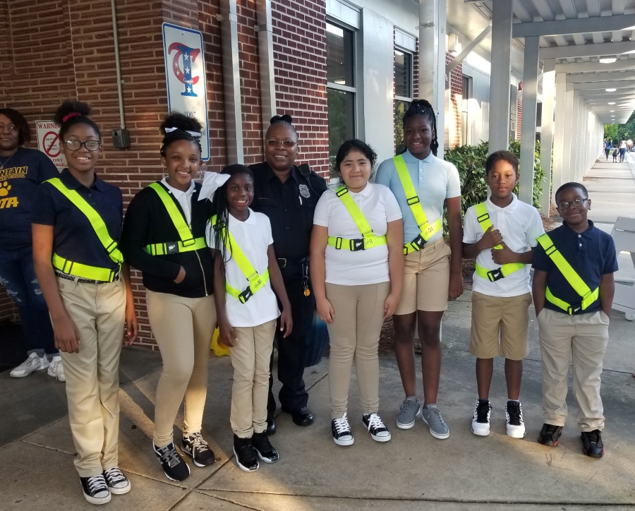 First Day if School-Safety Patrol